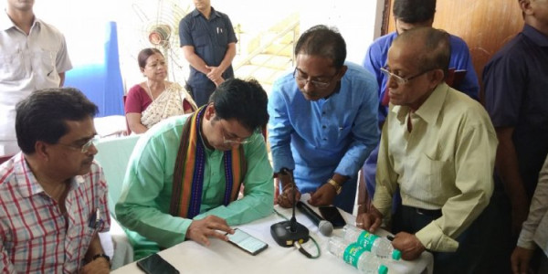 Tripura chief minister takes part in BJP membership drive