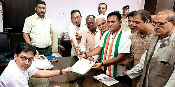Nine Congress, four BJP candidates file nomination