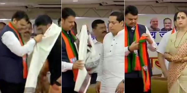 NCP को बड़ा झटका, डेढ़ दर्जन पार्षद, विधायक और नेता BJP में शामिल