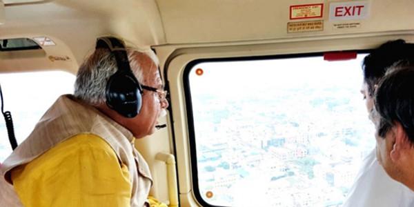 हरियाणा मुख्यमंत्री मनोहर लाल ने बाढ़ प्रभावित क्षेत्र का किया हवाई सर्वे