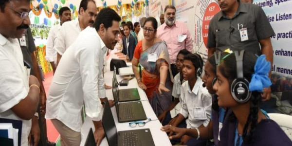 Andhra CM Jagan launches the mega scheme to revamp govt schools in the state