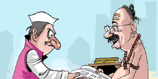 lok-sabha-candidates-wish-to-enroll-by-asking-the-time-and-the-day-with-astrologers