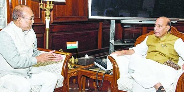 Manipur CM led delegation calls on Rajnath