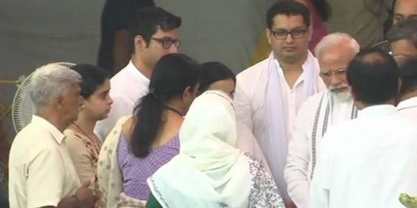 PM Modi pays homage to Goa CM
