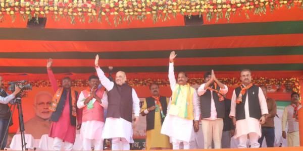रोड़े अटका रही थी कांग्रेस, अब बनेगा आसमान छूता राम मंदिर- अमित शाह