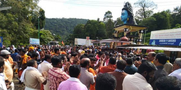Temple opens, prohibitory orders imposed for a day at Elavumkal, Pamba, Nilackal