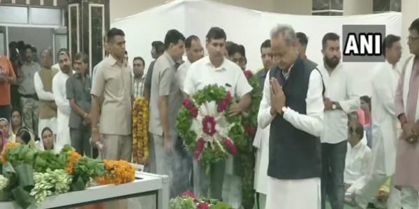 भाजपा प्रदेशाध्यक्ष को CM गहलोत, पायलट, वसुंधरा राजे ने दी श्रद्धांजलि