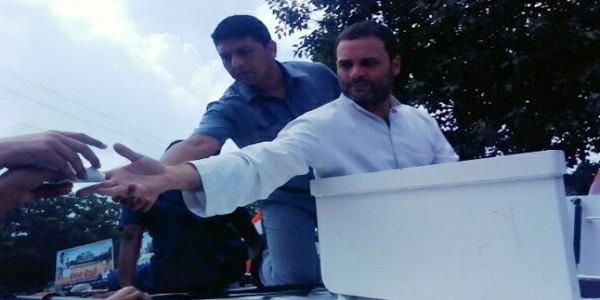 किसान महायात्रा: राहुल ने किया मोदी पर कमेंट, कहा- किसी के भी खाते में नहीं आए 15 लाख