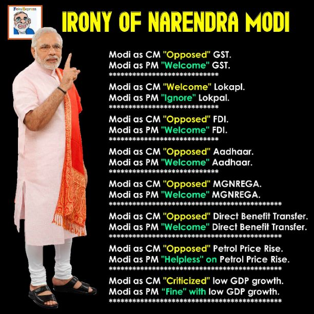 Irony of Modi