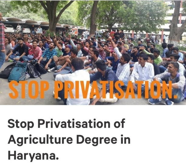 Students of agriculture universities strugling and government is  relaxing