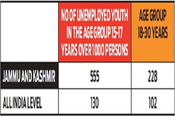 40 percent JK youth in 15-30 age-group jobless'