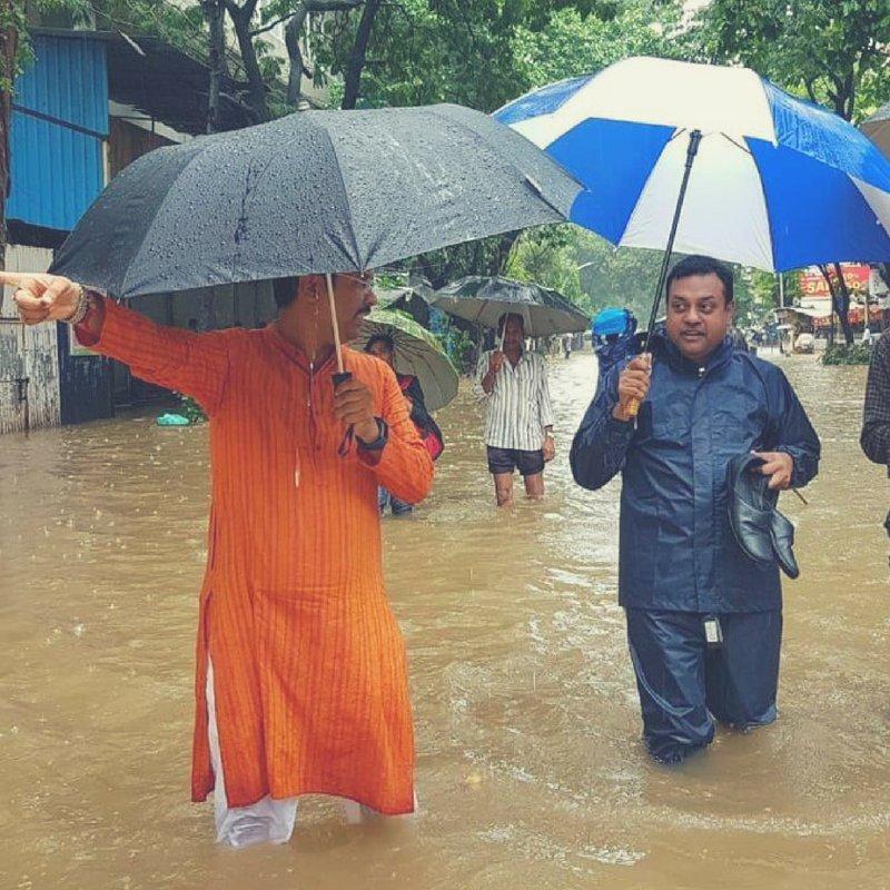 भारी बारिश से मुंबई परेशान