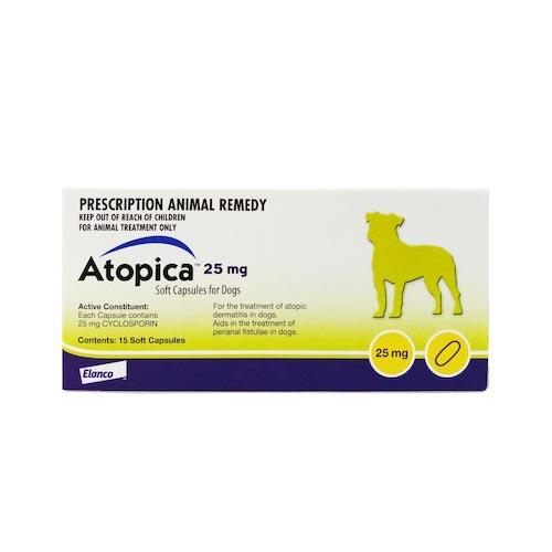 アトピカ25mgは犬用アトピー性皮膚炎のためのお薬です