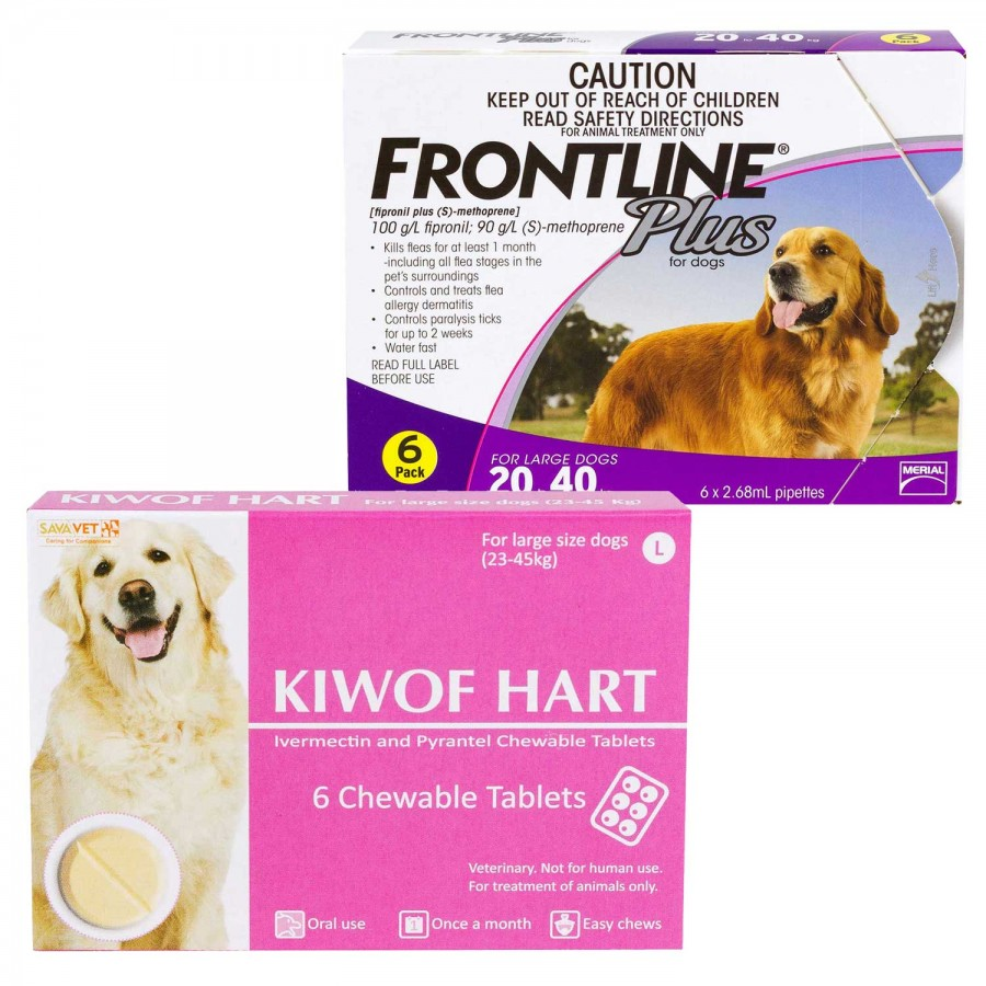 キウォフハートとフロントラインプラス大型犬用-1294