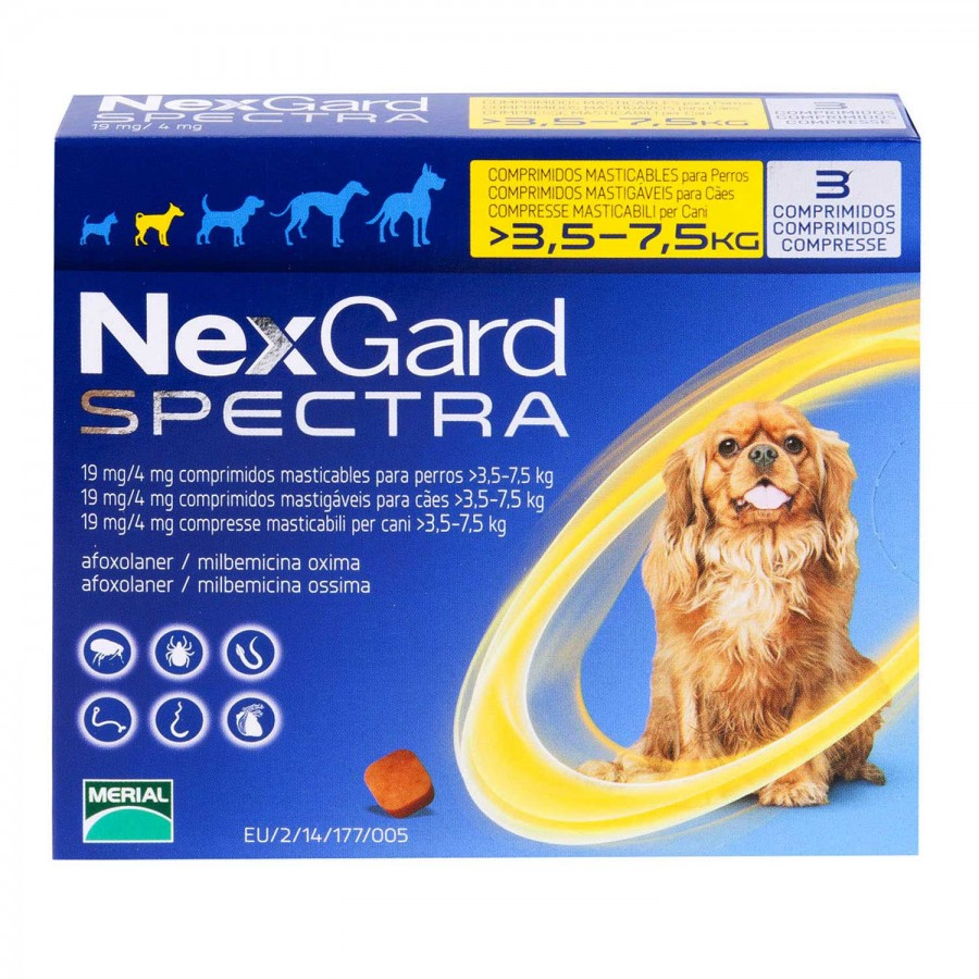 ネクスガードスペクトラ小型犬用3.5~7.5kg未満