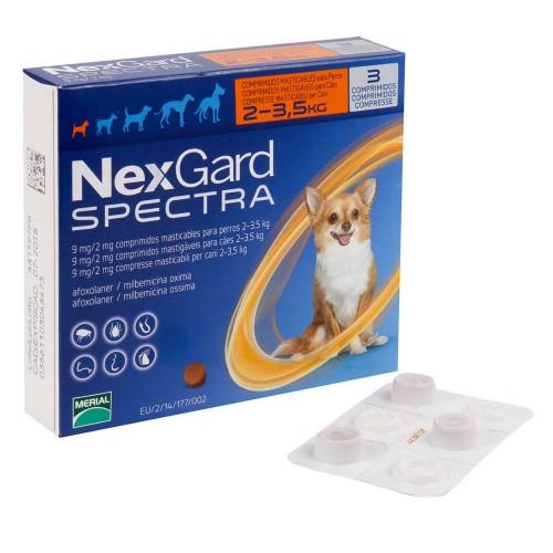 ネクスガードスペクトラ(超小型犬用2~3.5kg未満)