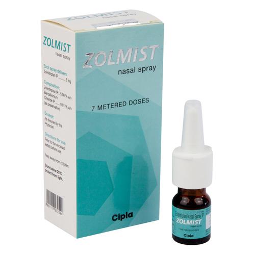 ゾルミストスプレー式点鼻薬(ゾルミトリプタン)5mg
