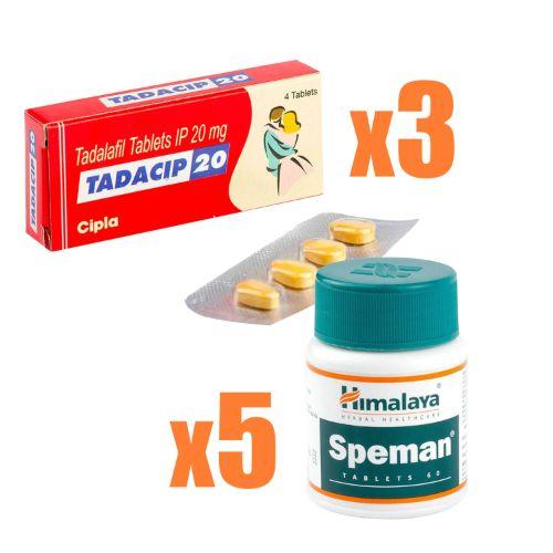 タダシップ3箱+スペマン5箱(ED・精子量アップコンボ)