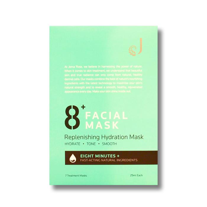 8+ フェイシャルマスク – ハイドレーション (7枚入り)
