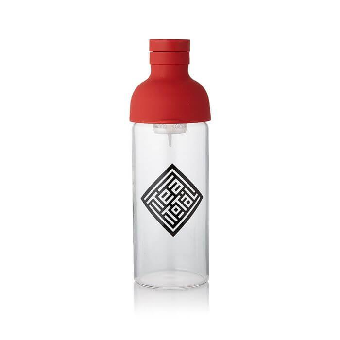 フィルター付きボトル 300ml【TeaTotalロゴ入り/ レッド】