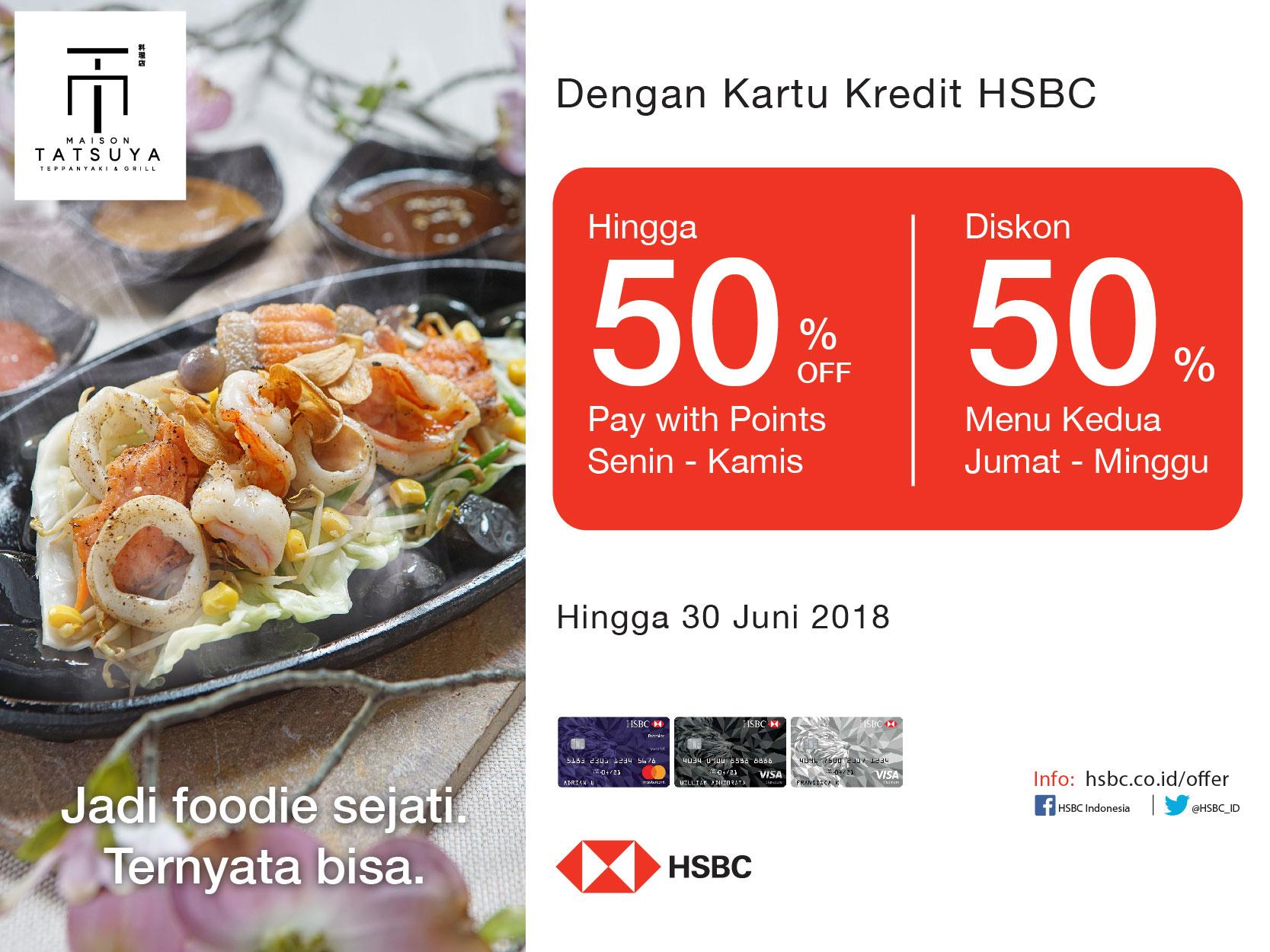Diskon Hingga 50 Setiap Hari Di Maison Tatsuya Dengan Kartu Kredit Hsbc Maison Tatsuya