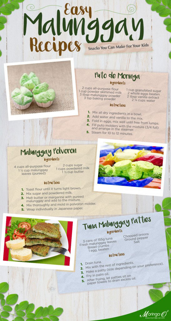 Malunggay Recipes for Kids | Moringa-O2