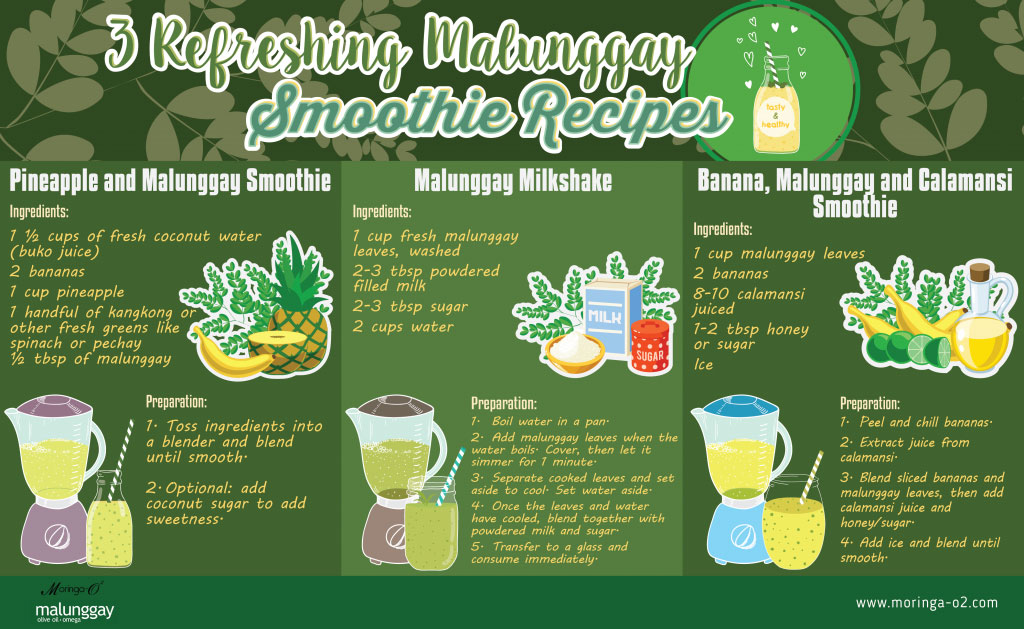 Moringa O2 - 3 Refreshing Malunggay Smoothie Recipes