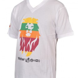 V Neck T-Shirt- Lion Design