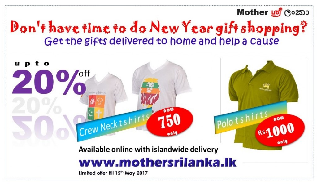 "<h1 class=""text-center"">Celebrate Sinhala and Tamil New Year with Mother Sri Lanka T shirt promo</h1><p class=""slider-text text-center""><a class=""read-more"" href=""https://www.mothersrilanka.lk/celebrate-sinhala-and-tamil-new-year-with-mother-sri-lanka-t-shirt-promo/"">Read More</a></p>"