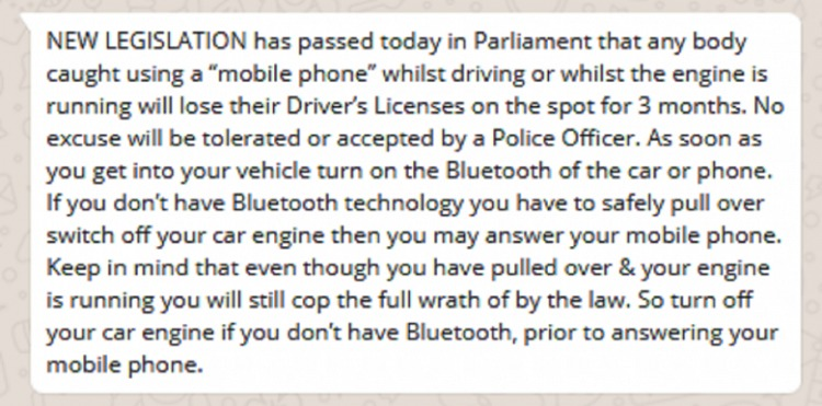 Motorist Fake Text Mobile Phone Driving 1
