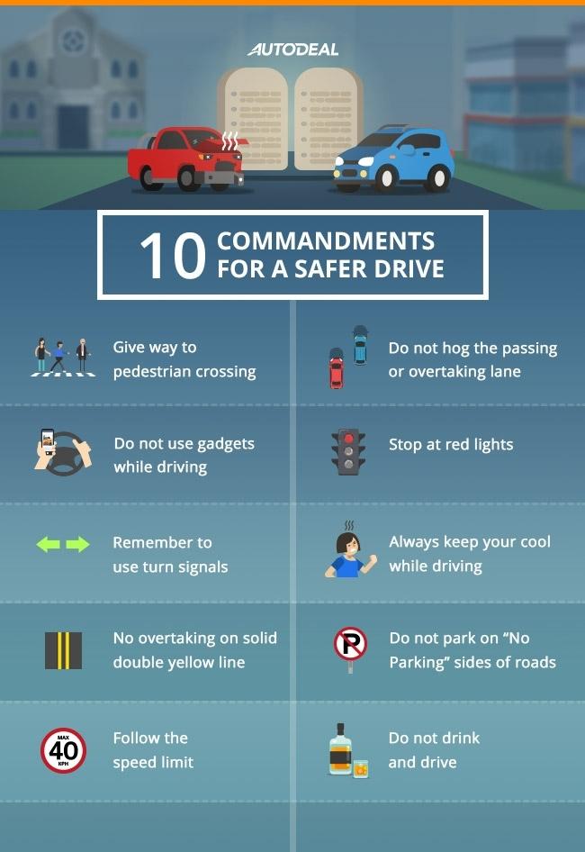 Motorist 10 Commandments
