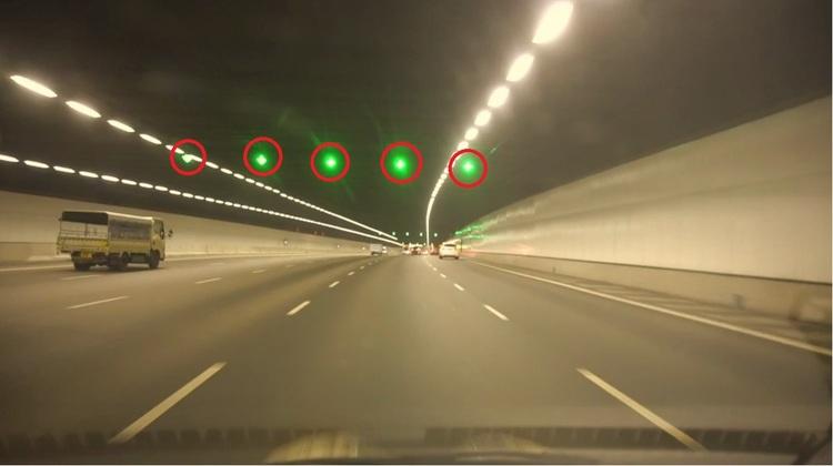 Motorist Speed Camera In Tunnels