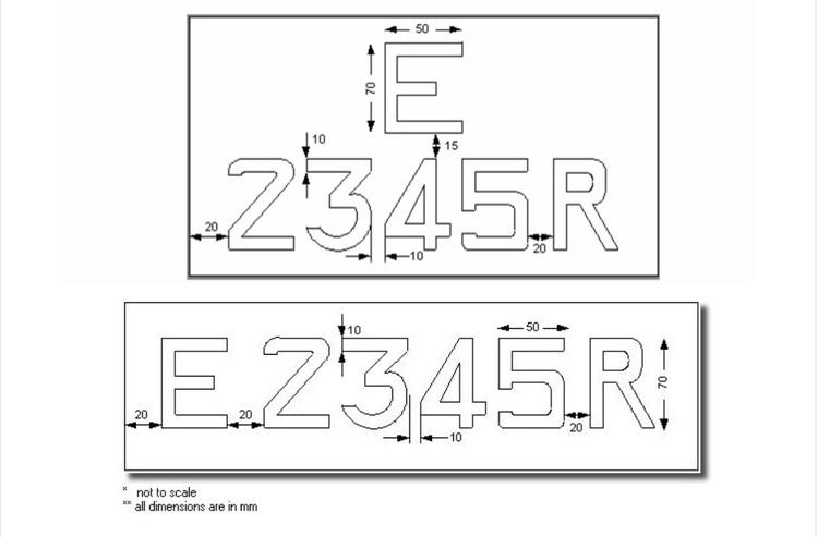 Motorist Car Licence Plate Dimensions