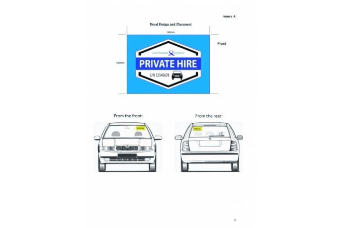 Motorist Private Hire Car Decal