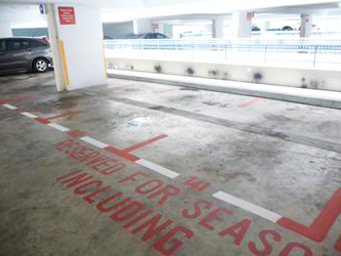 Parking Lot Red And White