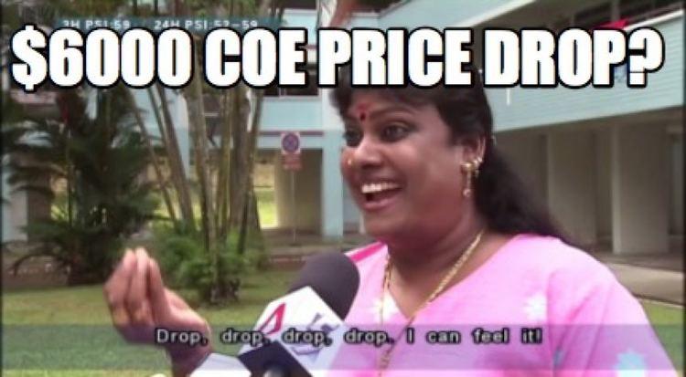 $6000 COE price drop