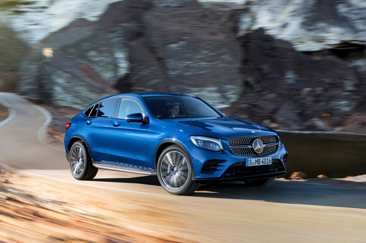 2017 Mercedes Benz Glc Coupe Front Three Quarter In Motion
