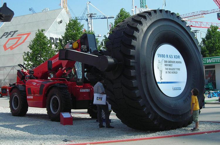 1200px Michelin 59 R 63 Xdr Tyre Biggest Wheel