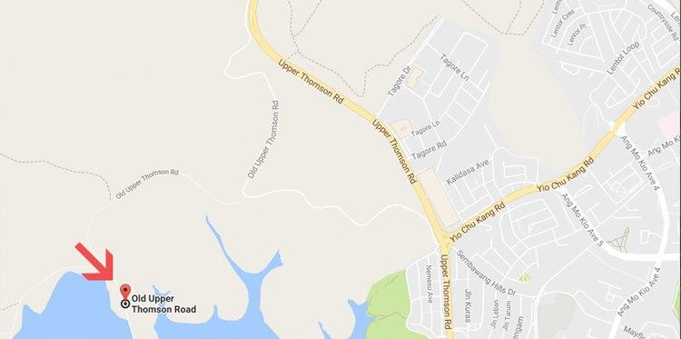 Upper Peirce Reservoir location google maps