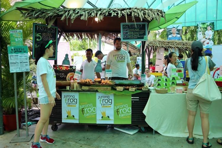 Farmers market kranji countryside frog stall