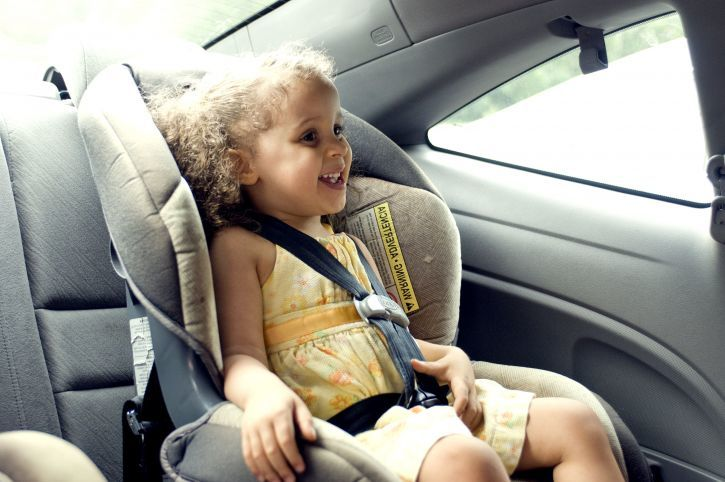 Young Cute Female Child In Back Seat Car Set 725x482