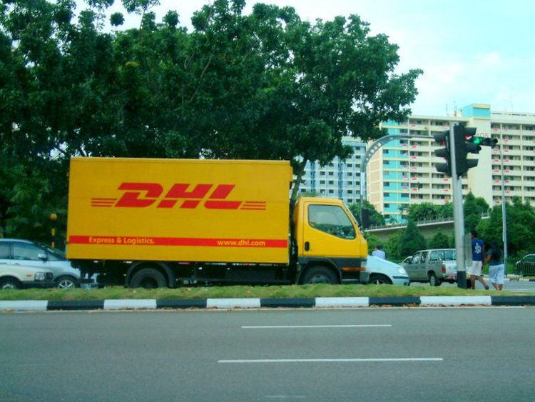 Dhl Truck In Singapore