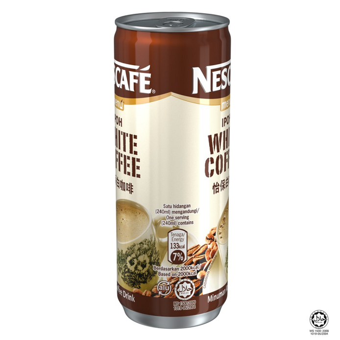 NESCAFE White Coffee RTD 24 Cans, 240ml Each