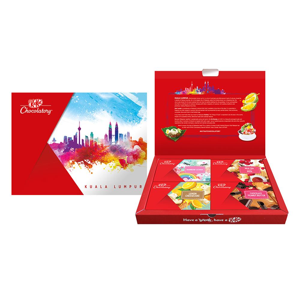 Nestle KITKAT Chocolatory Kuala Lumpur Gift Pack Option 1 (FREE Mickey Notebook)