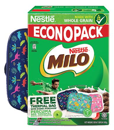 NESTLE MILO CEREAL 500g Free 1 Kids Lunch Bag