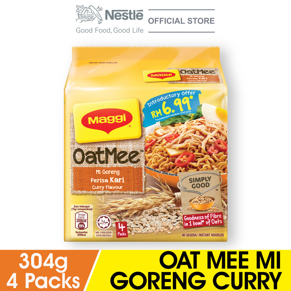 MAGGI Oat Mee Mi Goreng Curry 4 Packs 76g
