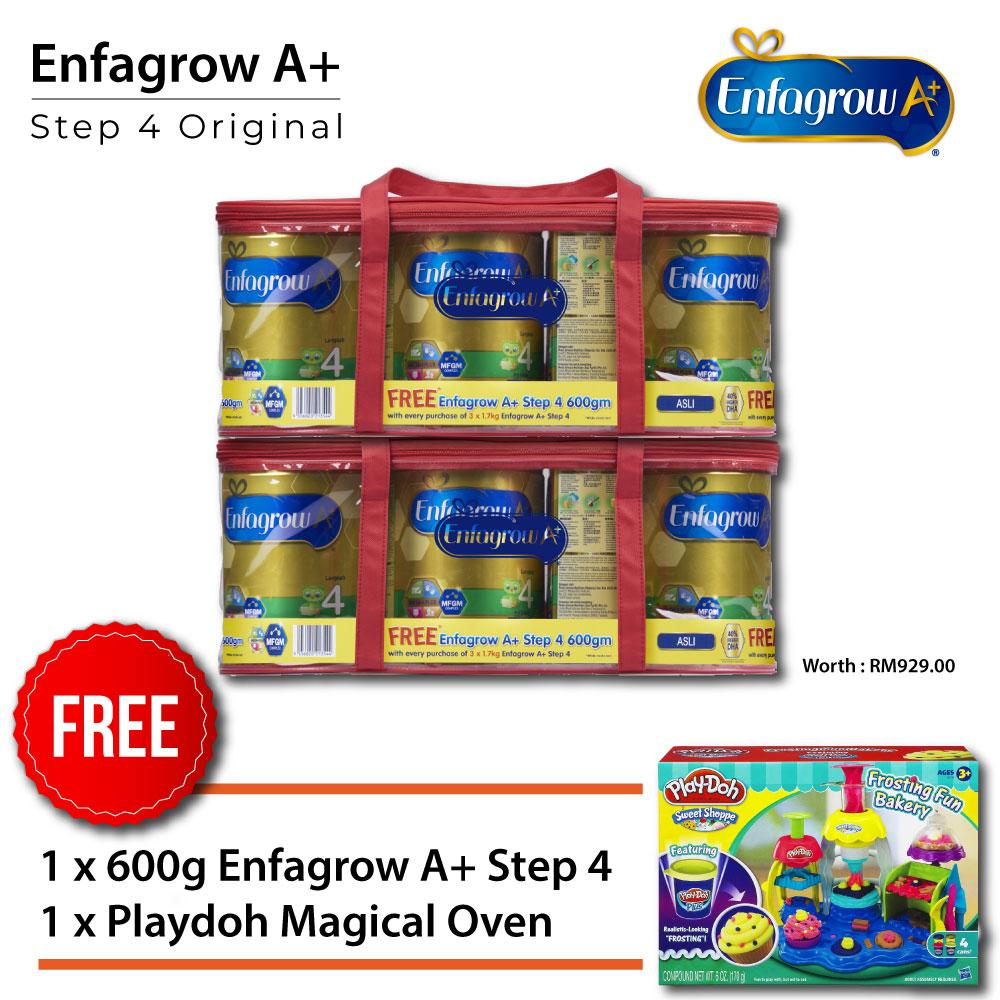 ENFAGROW A+ Step 4 Original 1.7kg x3 + 600g x1, Buy 2 Set Free Playdoh Magical Oven