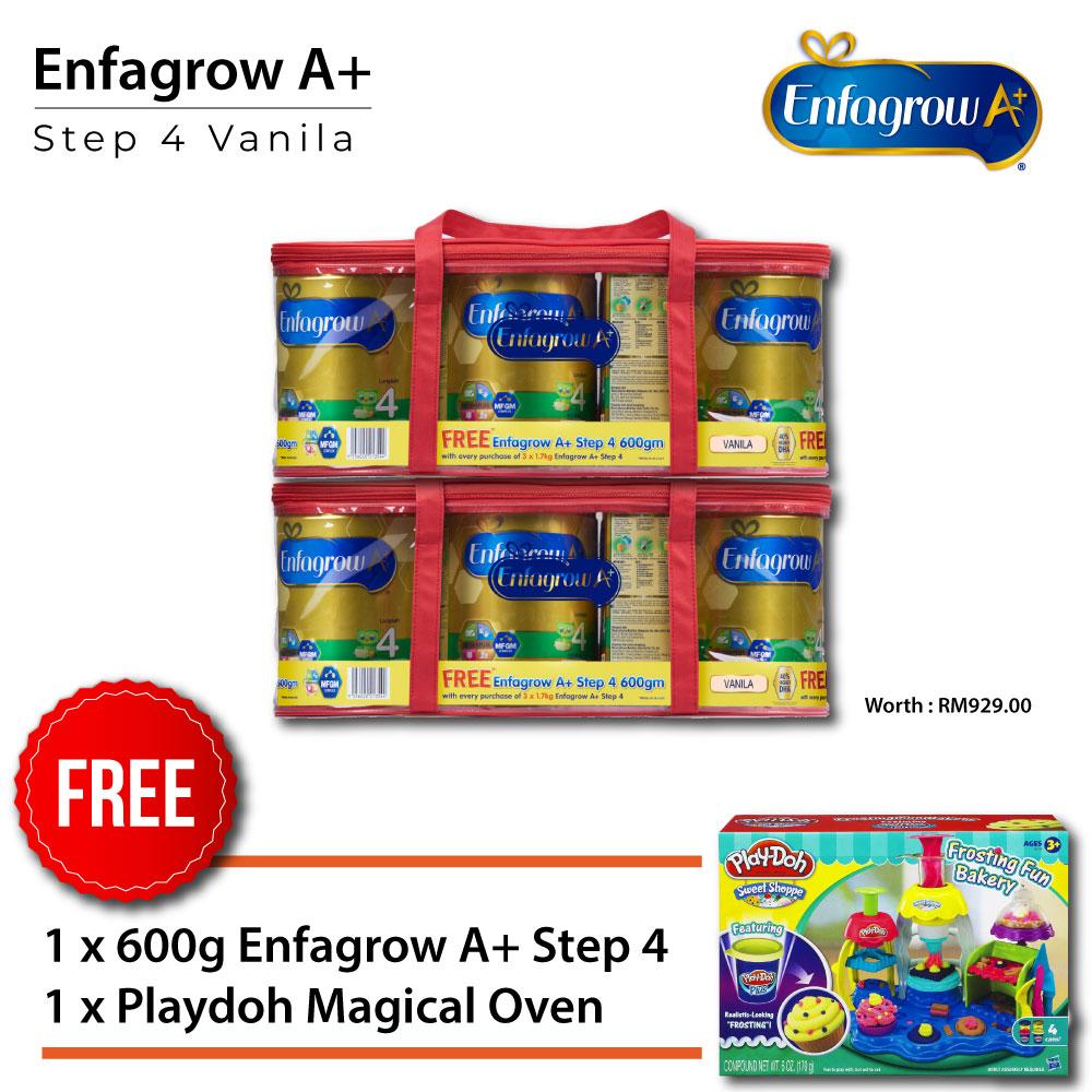 ENFAGROW A+ Step 4 Vanilla 1.7kg x3 + 600g x1, Buy 2 Set Get Free Playdoh Magical Oven
