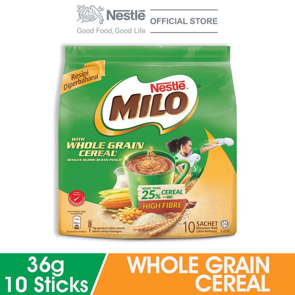MILO ACTIV-GO Whole Grain Cereal 10stick x 36g
