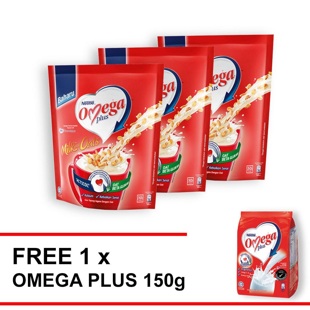 OMEGA Oats 10 stick buy 3 free 1 Omega 150g